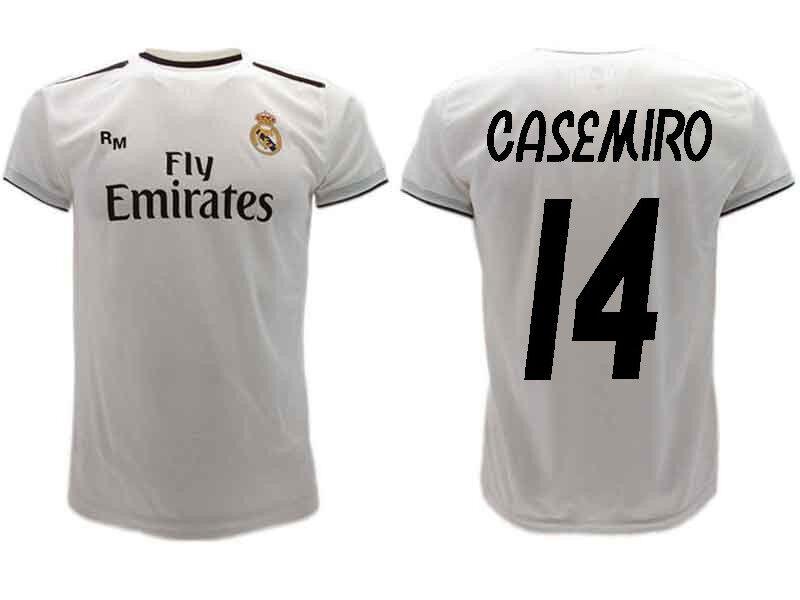MagliaCalzoni Ufficiale CASEMIRO Real Madrid  Ufficiale n14 Camiseta 20182019