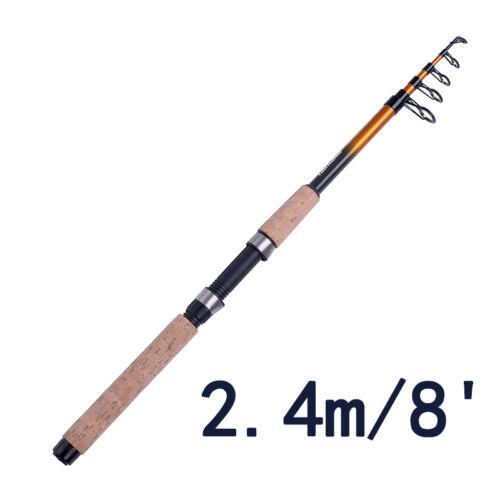 4.5M//15/' Ultra Strength Portable Telescopic Rod Carbon Fiber Travel Fishing Pole