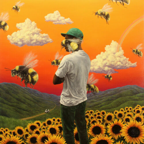 F-205 Tyler the Creator Flower Boy Rap Music Album Cover Fabric Poster Hot Print