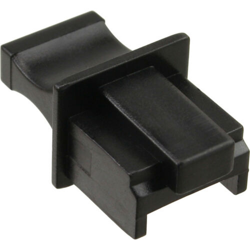 Pack Dust Cover for RJ45 socket black 100 pcs