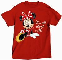 Disney Womens Women Adult Tee T-shirt Top Minnie Mouse All About Me