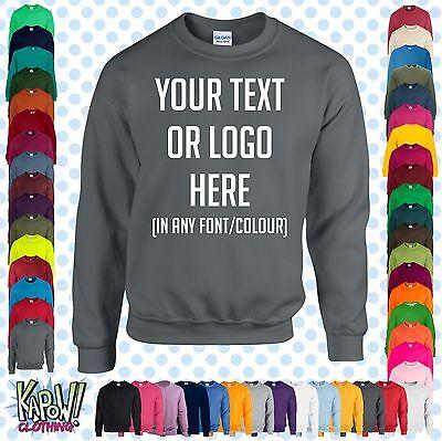 Personalised Sweatshirt Work Wear Sweatshirt Custom Printed Sweatshirt
