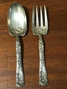 Rose and Scroll By Whiting Sterling Silver Confection Spoon Scalloped 5