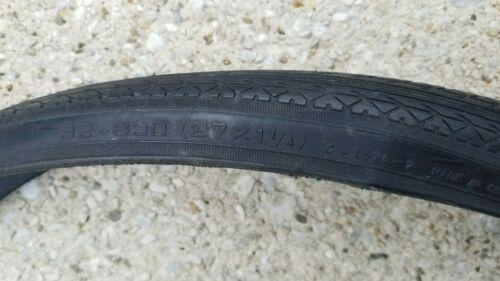 """BELL TIRE BICYCLE BLACK TIRE 27/"""" x 1-1//4/"""""""