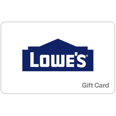 Lowe's Gift Card - $25, $50 or $100 - Email delivery