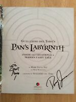 Signed X2 William Stout Doug Jones Guillermo Del Toro's Pan's Labyrinth Hc + Pic
