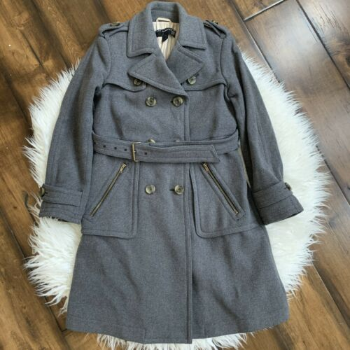 Marc Jacobs Wool Belted Trench Coat SZ Small