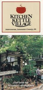 Details About Kitchen Kettle Village Intercourse Lancaster County Pa Vintage Brochure