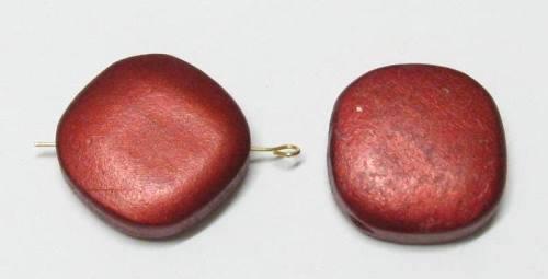 2 HolzperlenHolz Perlen Raute 28x28x10mm Farbauswahl