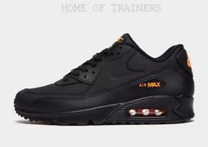 Nike-Air-Max-90-Nero-Giallo-Scarpe-Da-Ginnastica-Uomo-Tutte-Le-Taglie