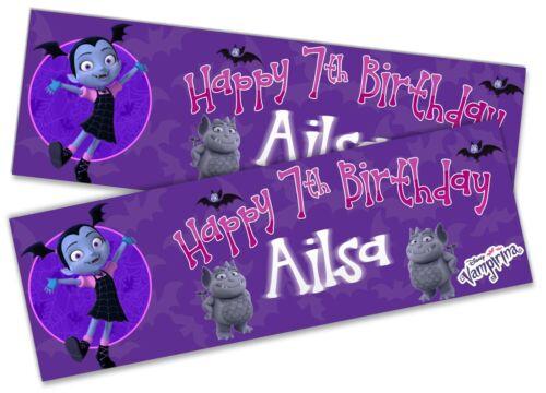 x2 Personalised Birthday Banner Vampirina Children Kids Party Decoration 5