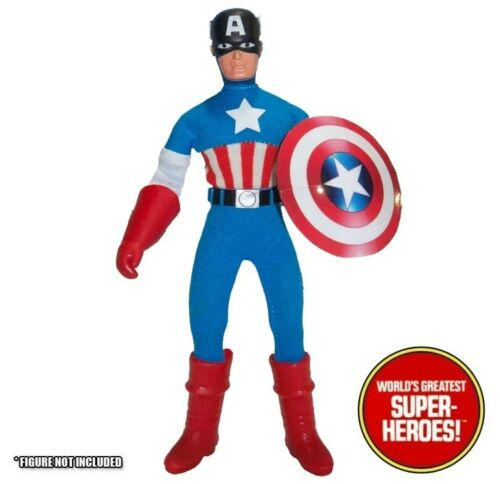 """Mego Capitan America Star Vinile FUSTELLATO REPRO Decalcomania Emblema Adesivo WGSH Figura 8/"""""""