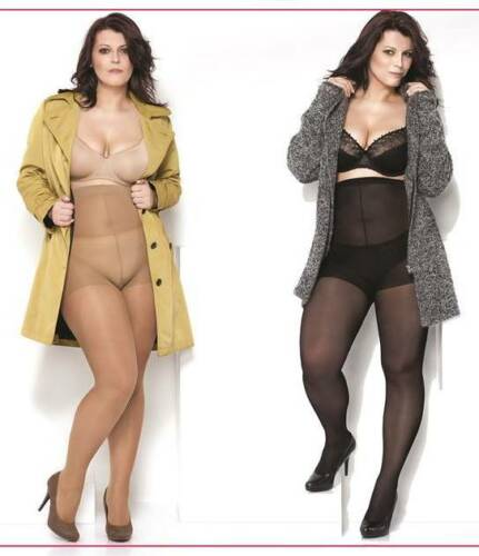 Plus size Tights 40 DEN Over Size 2XL to 5XXL Hips up to 170 cm