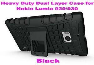 Black-Strong-Durable-Heavy-Duty-Tradesman-TPU-Case-Cover-for-Nokia-Lumia-929-930