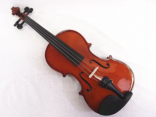 Student//Beginner Model 4//4 Solid Wood Violin Bow Square Case+Rosin String set