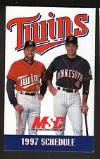 1997 Minnesota Twins Schedule--MSC/Dodge Dakota--Chuck Knoblauch/Paul Molitor
