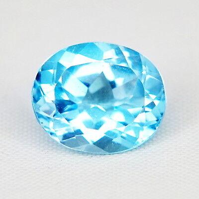 Modest Top Topaz Fine Earrings 6,06 Ct Natürlicher Blau Topas Aus Brasilien