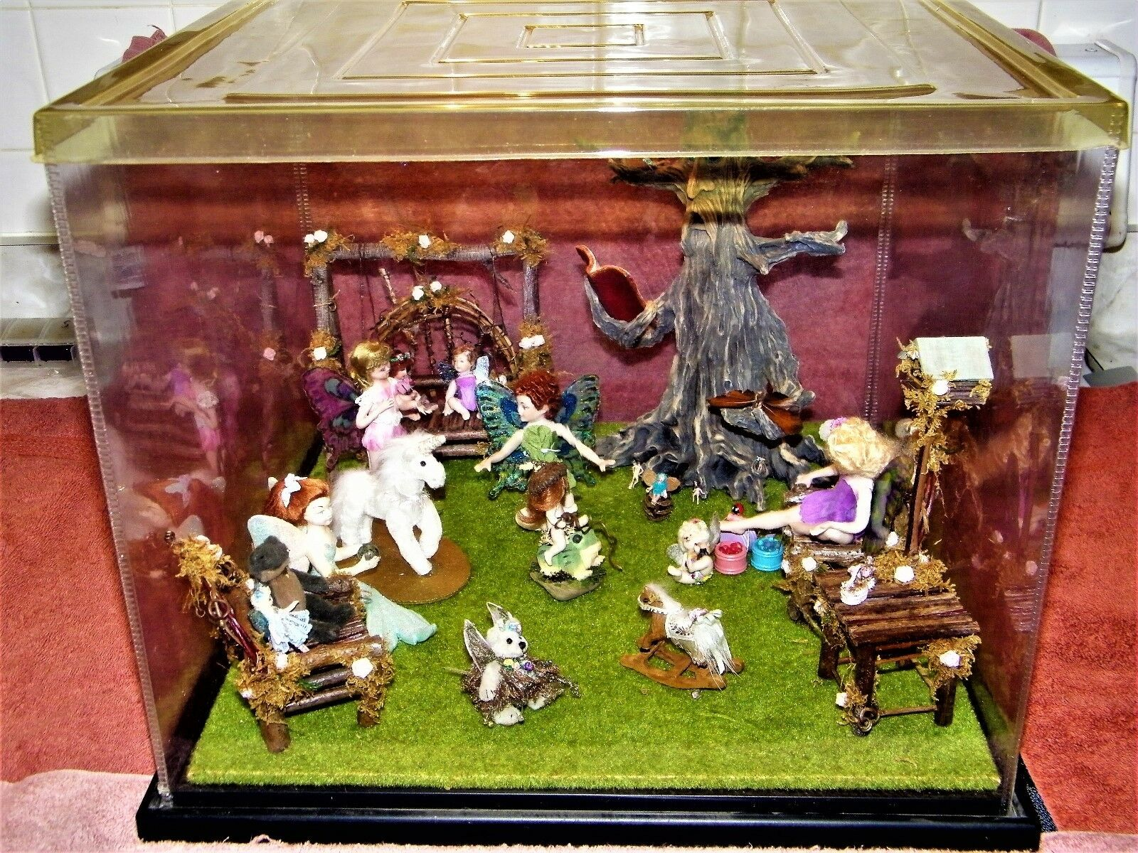 outlet Minature Display, OOAK,     Fairy Le  ,  Wood Furniture He fatto,  30 years old  sconto online