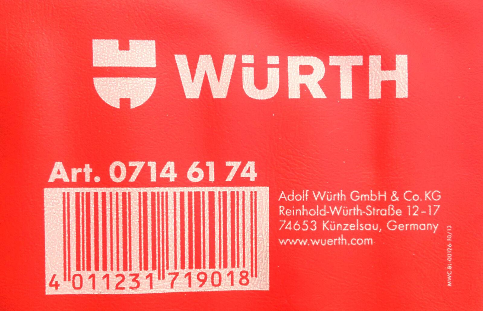 Wurth 07146174 Schlüssel Feile Set 6pcs Einwanderungsländern Feile Set Holzgriff