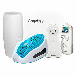 Angelcare-AC403-Movement-amp-Sound-Baby-Monitor-Bundle-Bath-Support-Nappy-Bin