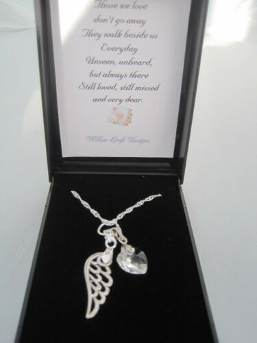 UNIQUE BABY /'ANGEL WING/' INFANT LOSS BEREAVEMENT MISCARRIAGE KEEPSAKE NECKLACE