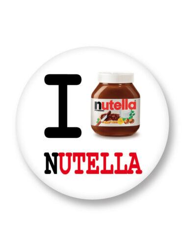 "Pin Button Badge Ø25mm 1/"" I Love J/'aime Nutella"