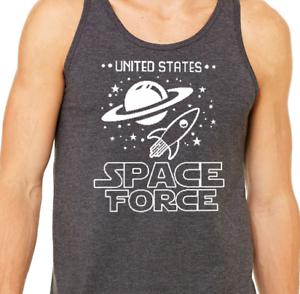 2aeb5a160a0b5 SPACE FORCE Tank Top funny nasa spaceballs star wars trump unisex ...