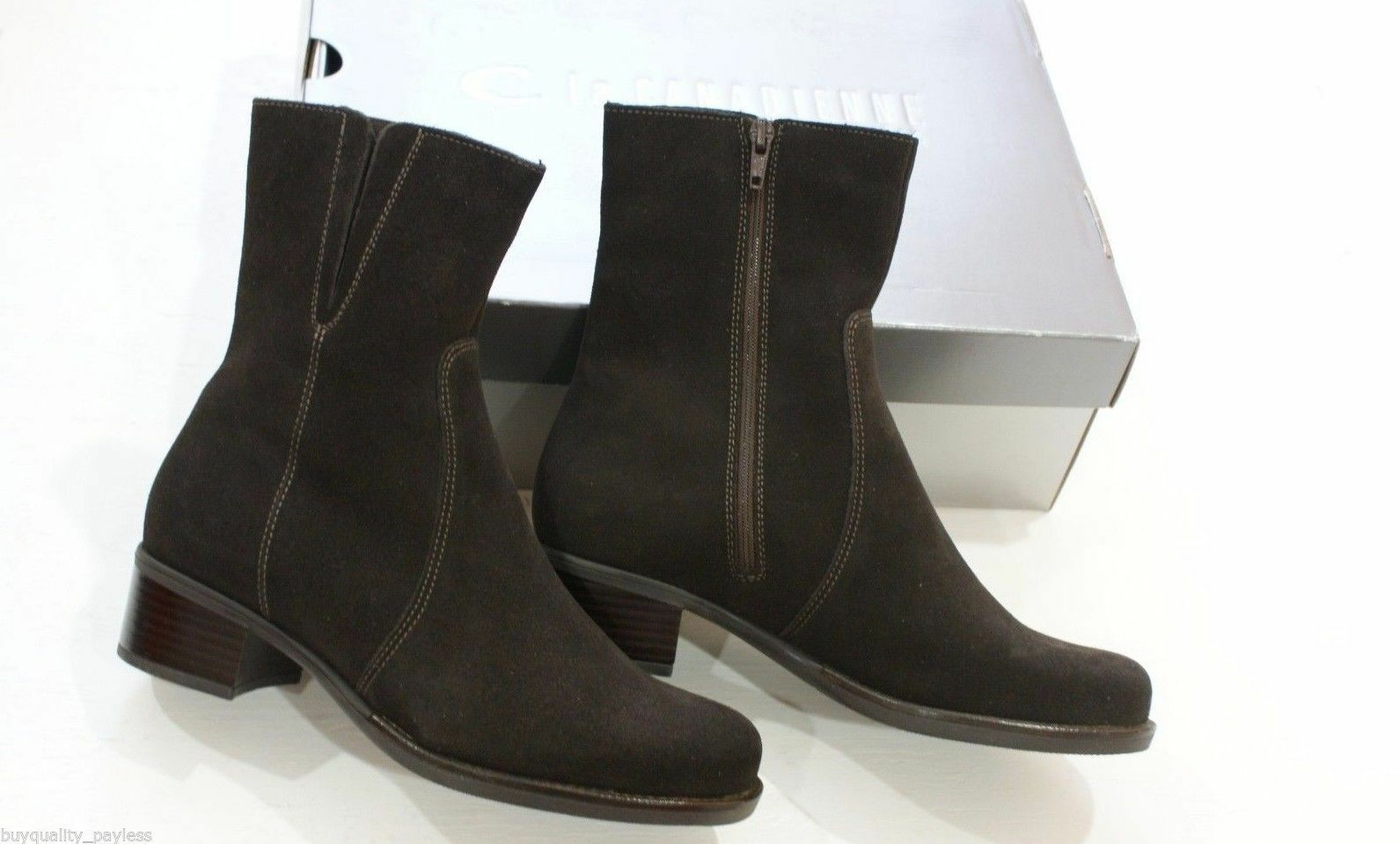 LA CANADIENNE Perla Brown Suede WATERPROOF Ankle Stivali Donna 6 EXPEDITED MAIL