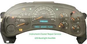 2003-2006 GMC Sierra Instrument Cluster Repair Service