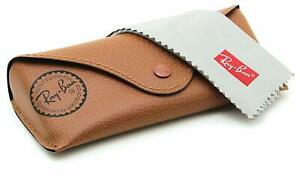 Ray-Ban-Sunglasses-Eye-glasses-case-Brown-leather-Case-amp-Cleaning-Cloth