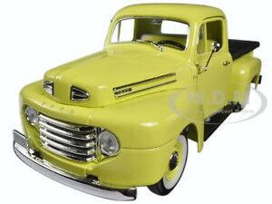 1948-FORD-F-1-PICKUP-TRUCK-WITH-FLATBED-YELLOW-1-18-BY-ROAD-SIGNATURE-92218