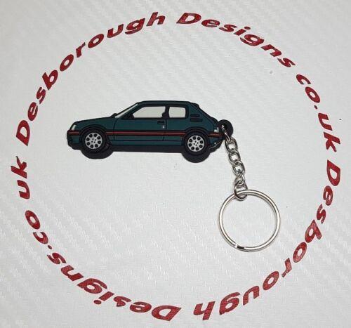 Peugeot 205 Gti Car Key Ring Sorrento Green