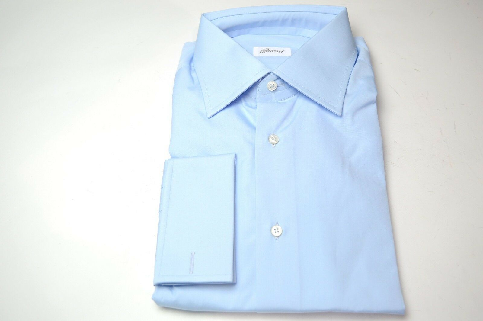 NEW  BRIONI Dress  SHIRT 100% Cotton Size 17 Us 43 Eu  (ARA132)