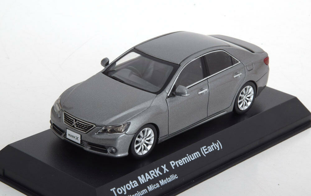TOYOTA MARK X PREMIUM EARLY TITANIUM MICA METAL 2000 KYOSHO 03637S3 1 43 gris