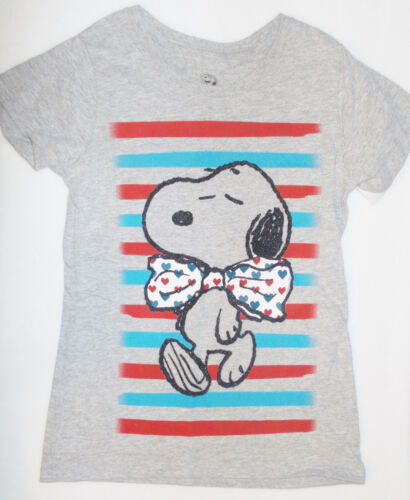 Peanuts Snoopy Girls T-Shirts White or Gray Sizes Small 4-5 or Medium 6-6X NWT