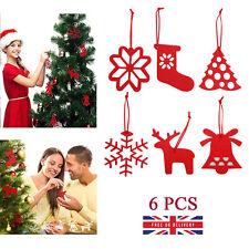 Felt Christmas Decorations Hanging Ornaments Xmas Tree Sock Snowflake Reindeer