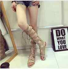 knee-high gladiator sandals sz EURO 37 (SZ 6 US)