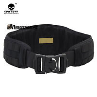 Emerson Molle Padded Molle Waist Support Belt Airsoft Combat Military Black