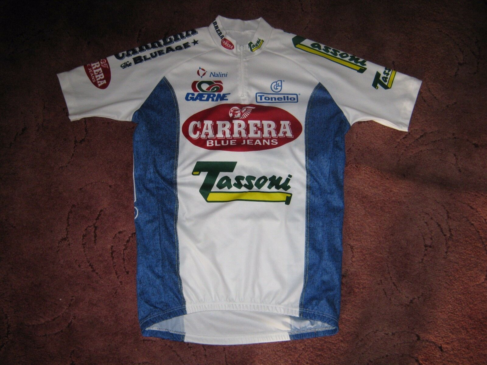 CARRERA TASSONI 1995 NALINI ITALIAN VINTAGE CYCLING JERSEY [Sz   4]  on sale