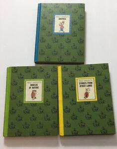 Lot of 3 Wonderful World Of Walt Disney  Vintage America Natur Story Book © 1965