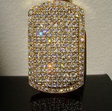 NEW! CUSTOM $199 GOLD GP SIMULATED DIAMOND ICED OUT HIP HOP DOGTAG CHARM PENDANT