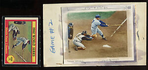 1961-Topps-Baseball-307-Mantle-Slams-2-Homers-Original-Topps-Flexichrome-Art