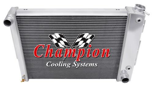 "2 Row 1/"" Perf Champion Radiator W// 16/"" Fan for 1967 1968 1969 Camaro Small Block"