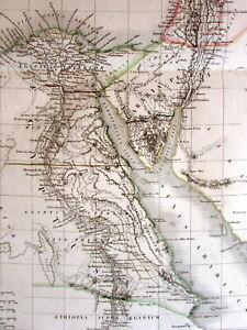 Syria-Holy-Land-Arabia-Petrea-Cyprus-Palestine-scarce-1833-Lapie-large-old-map