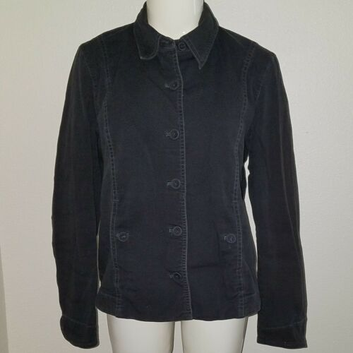 Eileen Fisher Black Denim Jacket Size Medium Shows