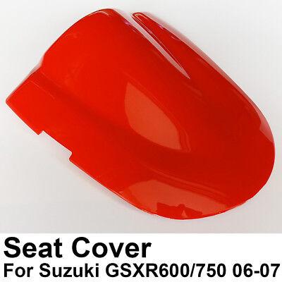 Leather Rear seat cover Cowl Fairings For Suzuki GSXR GSX-R 600 750 2006 2007 K6