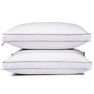 Feather-Goose-Down-Bed-Pillow-Set-of-2-Pillows-Bedding-Set-Queen-King-Size
