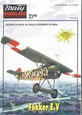 Maly Modelarz 7/98 tedesco Aereo da caccia Fokker E.V (D.(VIII)) (1918) 1:33