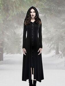 Das Bild wird geladen Gothic-Emo-Kleid-Kapuze-Maxi-Hoodie-Victorian-Wicca- c18cd6c5ad