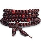 108 6mm Buddhist Prayer Bead Meditation Sandalwood Mala Necklace Bracelet Buddha